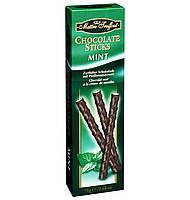Черный шоколад с мятой Chocolate Sticks Mint Flavour Maitre Truffout , 75 г