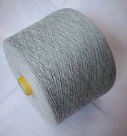 Светло-серый меланж хлопок   Filartex spa  , 20/2м, 1000 м  col 48