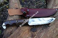 """Охотничий нож """"берсерк"""" ,рукоять палисандр ,сталь 440с ,цельный клинок"""