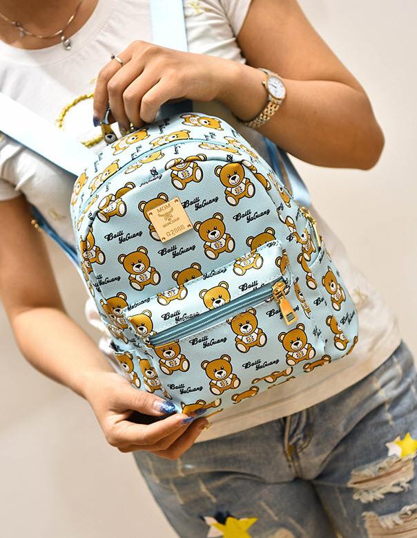 Сказочный рюкзак Baili с принтом мишки
