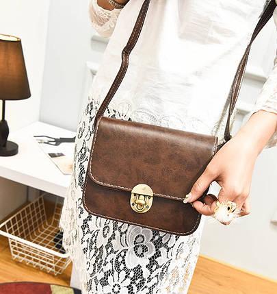 Fashion сумка сундучок с мраморным оттенком, фото 2