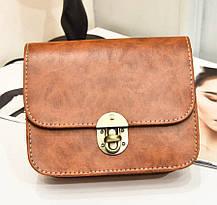 Fashion сумка сундучок с мраморным оттенком, фото 3