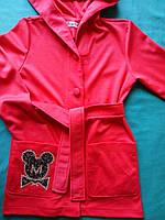 Детский трикотажный кардиган на девочку с красивой вышивкой Размеры 134- 152
