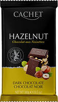 Шоколад Cachet (Кашет) черный 54% какао с фундуком (лесной орех)   Бельгия 300г
