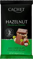 Шоколад CACHET (КАШЕТ) молочный 32% какао с фундуком (лесной орех)  Бельгия 300г