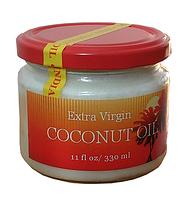 Кокосовое масло пищевое, нерафинированное, холодного отжима. Объем 330 мл.