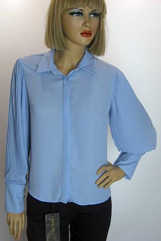 Жіноча голуба блузка з гофре Misra, фото 2
