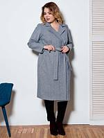 Женское классическое пальто из шерстяного твида Angelina (разные цвета)
