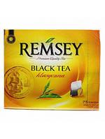 """Чай """"Remsey"""" 75 пакетов 150 г черный классический"""