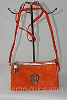 Клатч №15219 оранжевый  Артикул: 137157