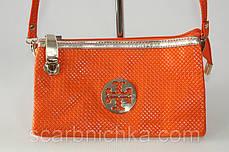 Клатч №15219 оранжевый  Артикул: 137157  , фото 3