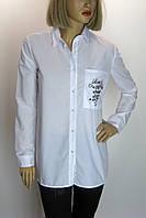 Блуза белая с принтом Beppe plus