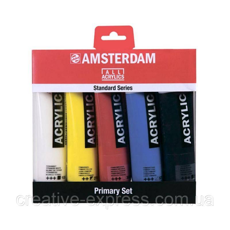 Набір акрилових фарб, AMSTERDAM STANDART, PRIMARY SET, 5*120 мл, Royal Talens