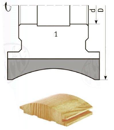 Фреза острозаточенная для изготовления  радиусной обшивочной доски (block house) по дереву  ВК-15, 130х32х80 - Фрезы по дереву. Острозаточенные фрезы по дереву в Каменце-Подольском