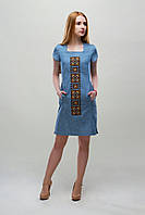 Джинсовые платье - Орнамент