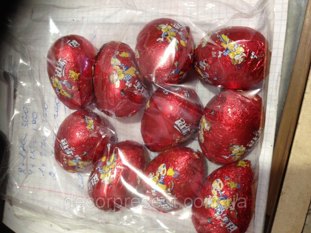 Шоколадные - пасхальные яйца/в упаковке 10 шт, 23 г. одно яйцо/