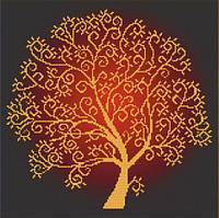 """Для вишивки бісером """"Дерево достатку"""" 33х33"""