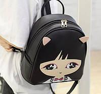 Городской рюкзак с лицом девочки кошки katgirl