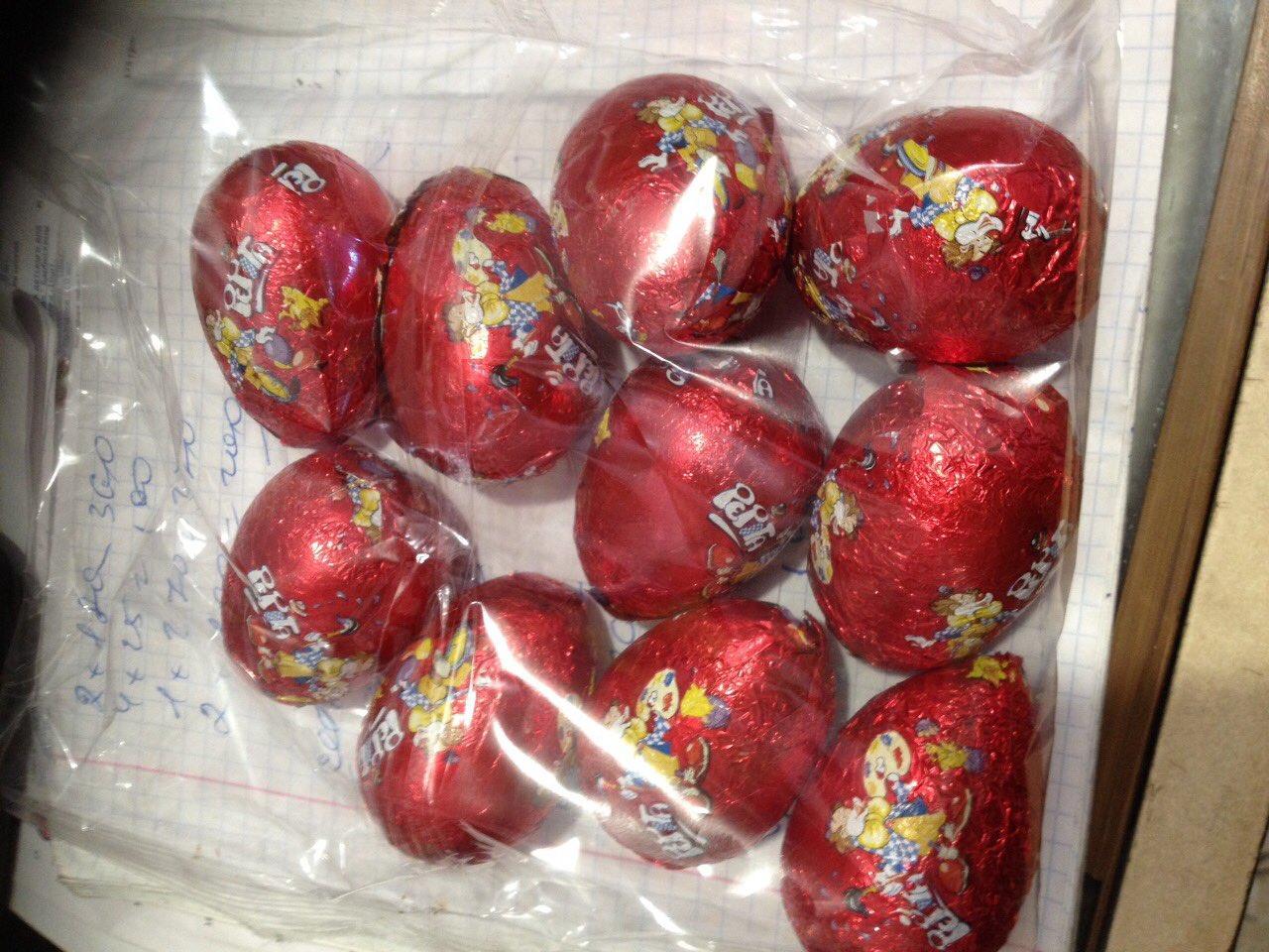 Шоколадные - пасхальные яйца/10шт/