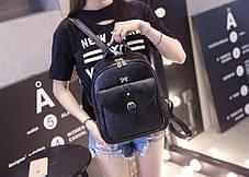 Міський рюкзак з бантиком і візерунком, фото 2