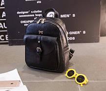 Городской рюкзак с бантиком и узором , фото 2
