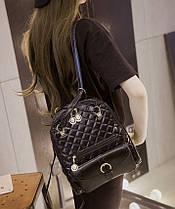 Большой стеганый городской рюкзак в стиле Candy Bear, фото 3
