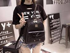 Городской нежный рюкзак с милым бантиком, фото 3