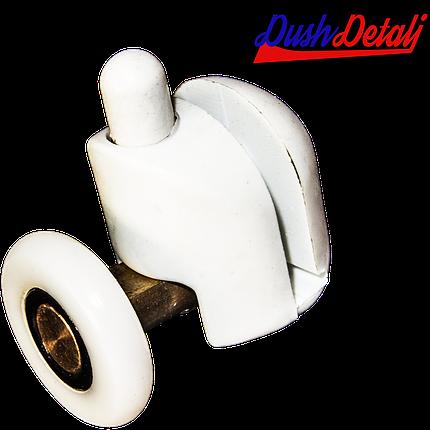 Ролик для  душевой кабины ( А039А ) Нажимной, нижний, Белый 26 мм., фото 2