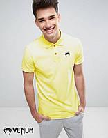 Тенниска для парня поло с принтом  Venum Венум желтая футболка