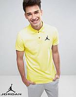 Мужская футболка поло с принтом Jordan Джордан тенниска желтая