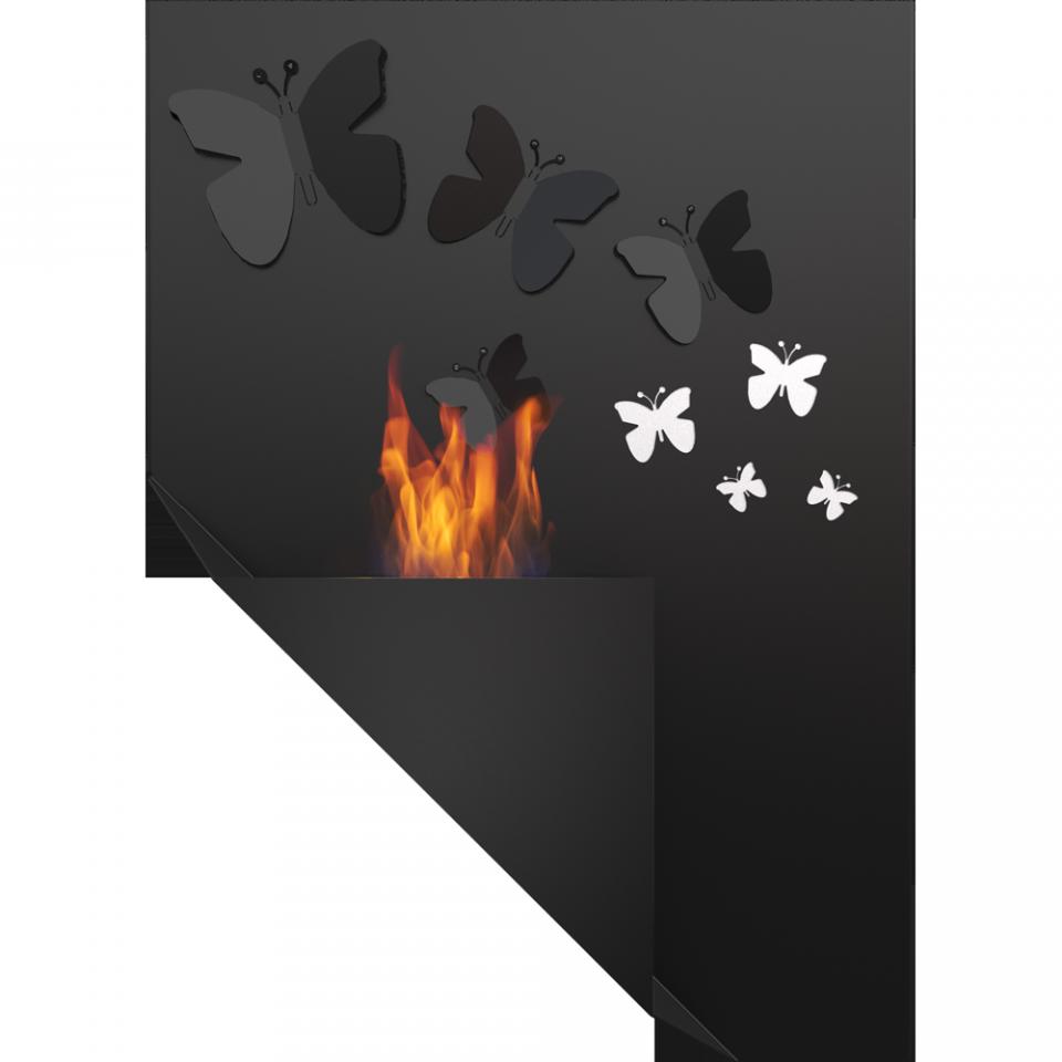 Настенный биокамин Papa Morpho с кристаллами Swarovski Kratki ( Кратки)
