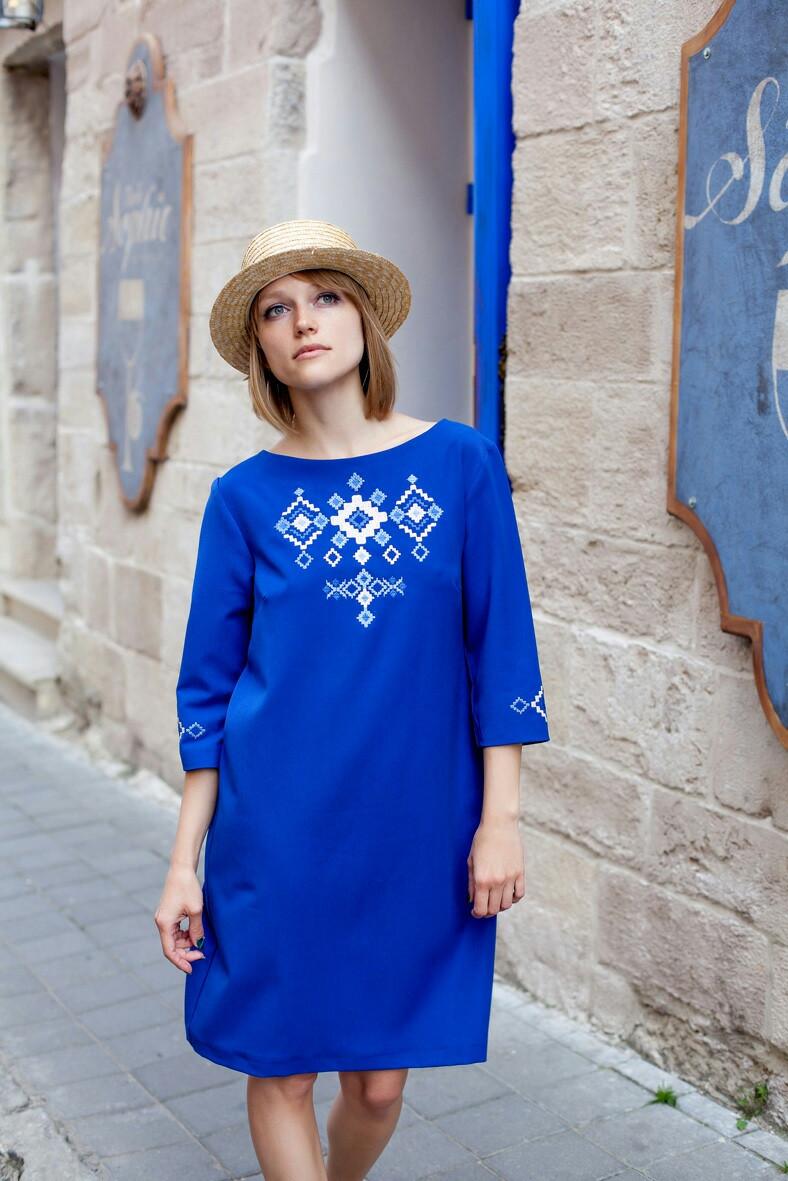 Платье в украинском стиле - Леся - Вишиванки оптом и в розницу - «ОптИнвест» ec1131b4a8c01