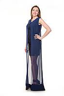 Платье вечернее синее Vera Mixx турецкое
