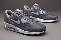 Кроссовки мужские Nike Air Max 90 Dark Grey/Wolf Grey (Оригинал), кроссовки найк аир макс 90 серые