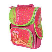 Школьный рюкзак с ортопедической спинкой для девочки - Клубничка - 87-1442