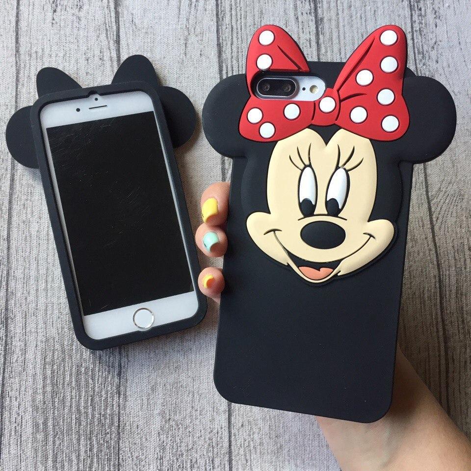 Силиконовый чехол Минни Маус для iPhone 8/8 Plus