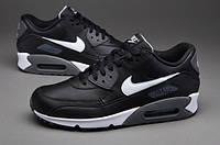 Кроссовки мужские Nike Air Max 90 Premium Leather (Оригинал), кроссовки найк аир макс 90 чёрные