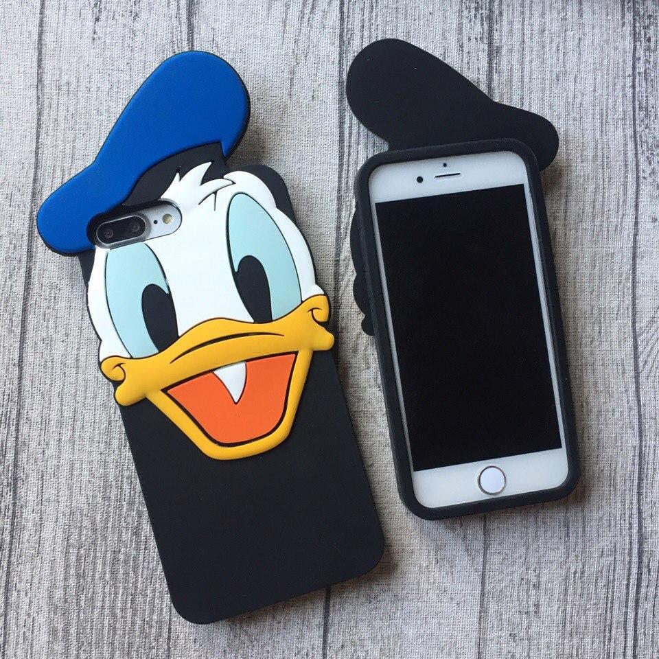 Силиконовый чехол утка Дональд Дак для iPhone 8/8 Plus