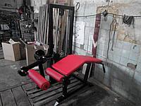 Тренажер для сгибания ног лежа (грузоблочный)