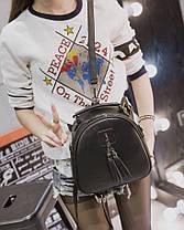 Милый не большой рюкзак с кисточками, фото 3