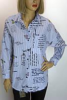 Блуза рубашка с принтами в полоску X Space