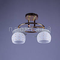 Люстра на 2 лампочки для низких потолков FG (золото)  P3-858BR/2/FG+WT (4шт. - ящ.)