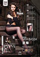 Колготки с заниженной талией без трусиков Vita Bassa 20 den TM Panna (Италия)