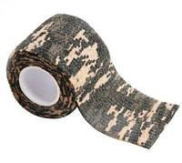 Камуфляжная лента скотч пиксель камуфляж маскування защитная маскировка камуфльована захисна стрічка 5х450 см