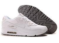 Кроссовки мужские Nike Air Max 90 Leather All White (Оригинал), кроссовки найк аир макс 90 белые