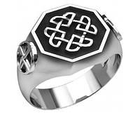 Кольцо Оберег серебряное Узел защиты викингов