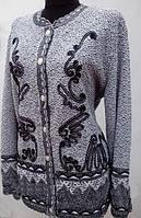 Красивая оригинальная женская кофта большие размеры, Венгрия.
