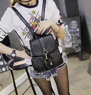 Стильный городской рюкзак с плетением, фото 2