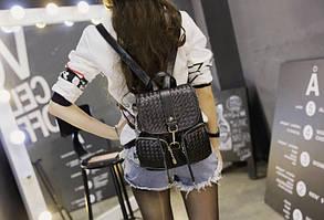 Стильный городской рюкзак с плетением , фото 3