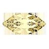 Лодочки в цапах Preciosa (Чехия) 10x5 мм Crystal Blond Flare/серебро